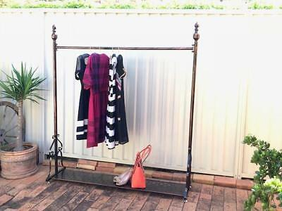 Quality Vintage Style Iron Clothes Dress Garment Rack Shelf Display DRS003BS-CPR