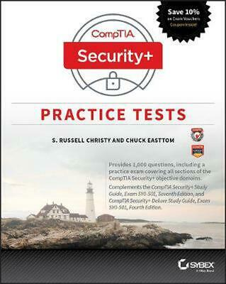 Comptia Security+ Practice Tests Exam Sy0-501 by Easttom Paperback Book Free Shi
