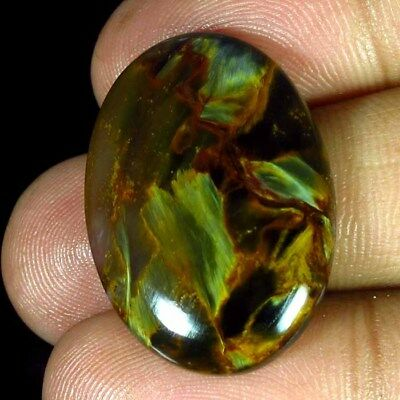 25.70 Ct 100% Natural Chatoyant Pietersite Oval 20 X 29 Mm Cabochon A++ Gemstone