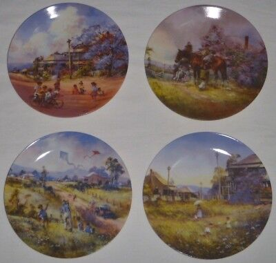 DARCY DOYLE Golden Summers Bradford Exchange Plates Set x 4