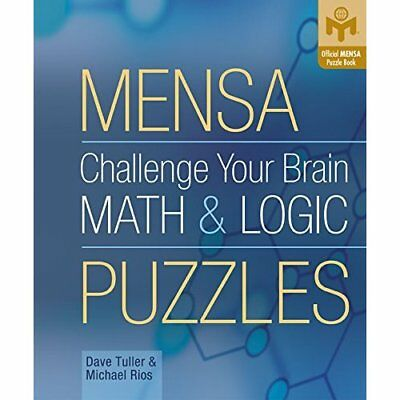 Mensa Challenge Your Brain Math and Logic Puzzles (Offi - Spiral-bound NEW Tulle