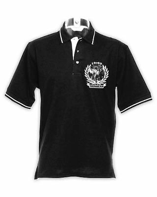 1969 Skinhead Logo Northern Soul Men's Contrast Tipped Polo Shirt