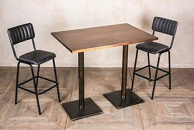 Double Pedestal Bar Table 120Cm Restaurant Table Small Dining Table Various Tops
