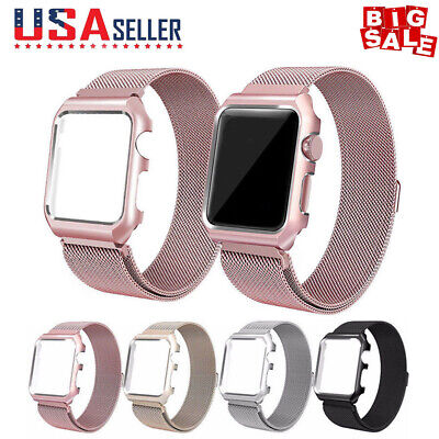 Milanese Stainless Steel iWatch Band Strap / Cover Case F Apple Watch Series 1-3