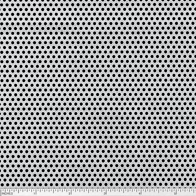 "Steel Perforated Sheet, Thickness: 0.075"", Width: 12"", Length: 12"", Hole: 3/32"""