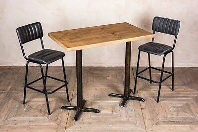 Double Pedestal Dining Table 120Cm Kitchen Table Bar Restaurant Table More Tops