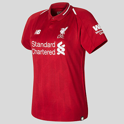 fc66c84f026 New Balance Womens Liverpool FC 18 19 Home Ladies Short Sleeve Football  Shirt