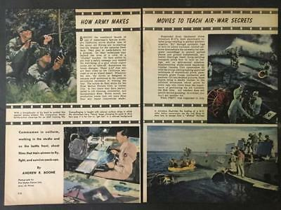 WWII Army Air Force Movies B-29 Safety & Survival Training Films 1944 pictorial