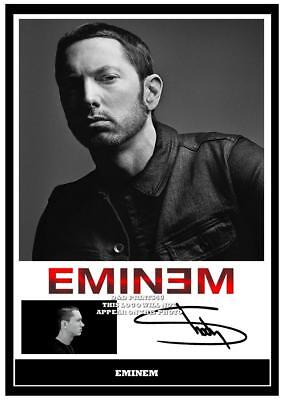 098. eminem signed a4 photograph reprint great gift