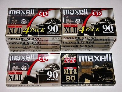 Lot of 10 Total Maxell XLII 90 and XLII-S 90 minute sealed cassette tapes