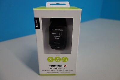 TomTom Spark Music GPS Fitness Watch in Black w/ Headphones - Large (RES:ML2286)
