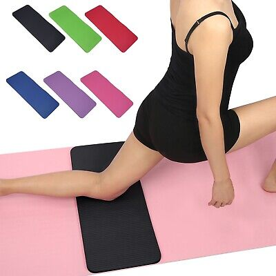 "Yoga Knee Pad Travel Cushion (24x10"") Anti-Slip 20mm Thick Workout Mat"