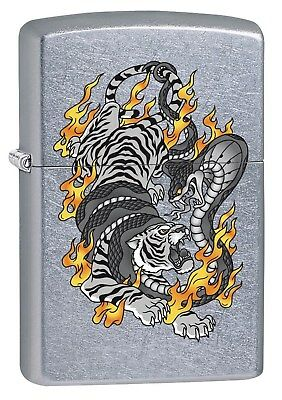 Zippo Lighter: Tiger Tattoo - Street Chrome 76437