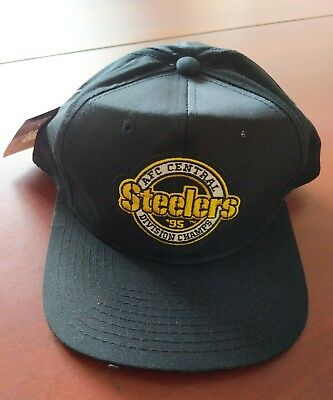 New Snapback Starter 1995 PITTSBURGH STEELERS AFC Central Champs Hat Cap 5b6cbdc7c