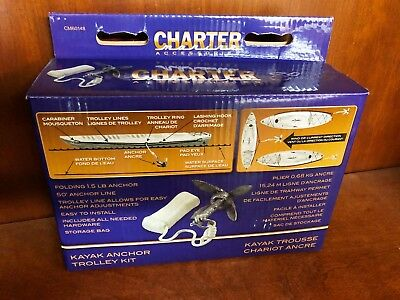 5155 Charter Marine Kayak 1.5 lb Anchor Trolley Kit CM60148 - hardware included