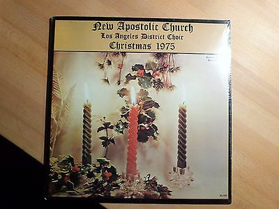 "12"" LP - New Apostolic Church - Los Angeles District Choir - Christmas 1975 OVP"