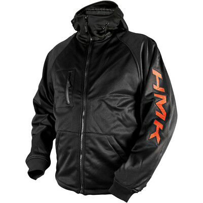 HMK Hooded Tech Shell Jacket Black/Orange