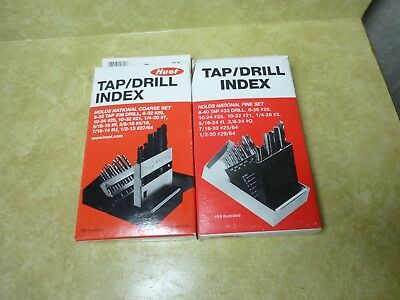2 Huot Tap and Drill Index Dispensers NC & NF 12650 12600 Made in USA