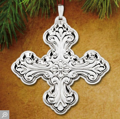 Reed & Barton 2016 Annual Cross 46TH Edtion Ornament  Sterling silver