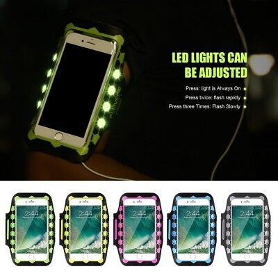 Armband Case Sport GYM Running LED Glow Arm Band For iPhone X 8 Plus/7/6 Samsung