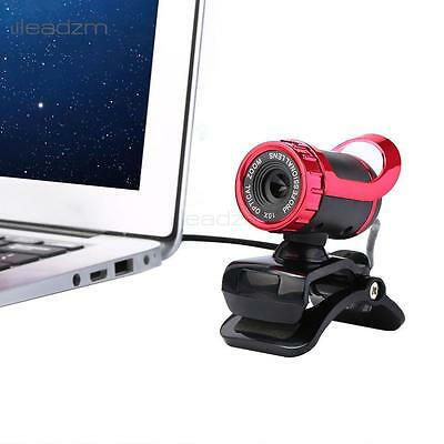 USB 2.0 360°Webcam Web Camera HD 50MP with MIC Clip-on for PC Laptops Nice Hot