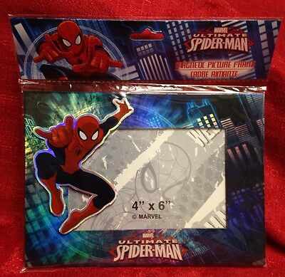 MARVEL ULTIMATE SPIDER-MAN MAGNETIC PICTURE FRAME  4 X 6 NEW In Package
