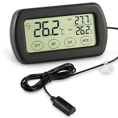 Mini LCD Digital Egg Incubator Thermometer Hygrometer Remote Meter US