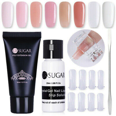 30ml UR SUGAR Quick Poly Building Gel UV Builder False Nail Tips Clip Pen Set