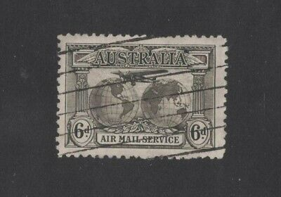 1931 Australia Kingsford Smith's World Flights SG 139 6d sepia used