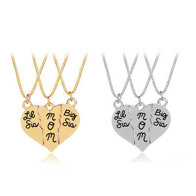 Family Heart Necklace Mother's Day Gift Lettering Gold Heart Metal Thanksgiving