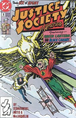 Justice Society of America (1st Series) #6 1991 FN Stock Image