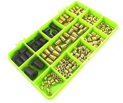 M3 M4 M5 M6 Threaded Brass Inserts Assortment Metric Thread Solid Brass Kit