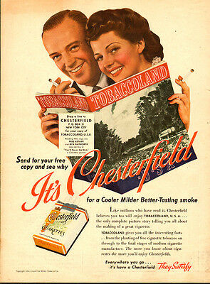 1941 Vintage AD, RITA HAYWORTH, FRED ASTAIR for CHESTERFIELD CIGARETTES, 061914