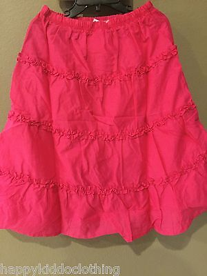 GYMBOREE Ruffled Tiered  Skirt New size 5 32.95 Valentines day pink