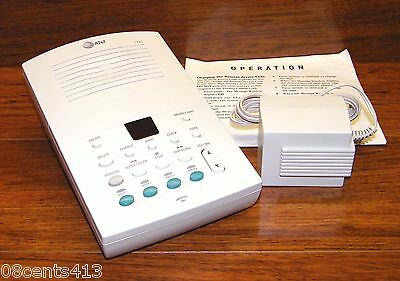 AT&T (1725) Deluxe Time/Date Stamp Digital Answering Machine w/ 4-Mailboxes
