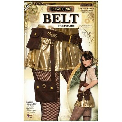 Steampunk Pouch Belt Costume Accessory Adult Halloween