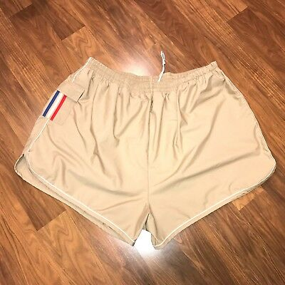 Vtg 70s 80s TAN Striped Mens 5XL Swim suit SURF trunks track Running shorts 5X