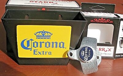 CORONA Mexican Beer Bottle Cap Opener & Card / Cap Catcher Bar Pub  Cerveza