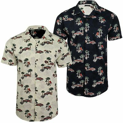 Mens Brave Soul Hawaiian Shirt - Short Sleeved