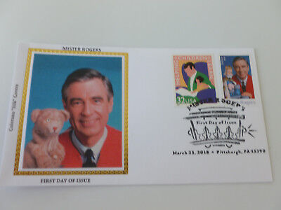 Mister Rogers 2018 Combo Stamp Fdc Sc#5275 Colorano Silk Cachet {Variety #2}