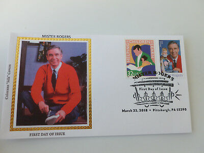 Mister Rogers 2018 Combo Stamp Fdc Sc#5275 Colorano Silk Cachet {Variety #1}