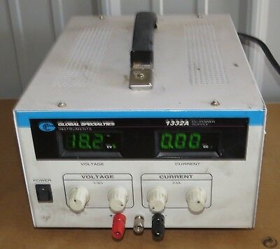 Global Specialties Regulated DC Power Supply Model 1332A