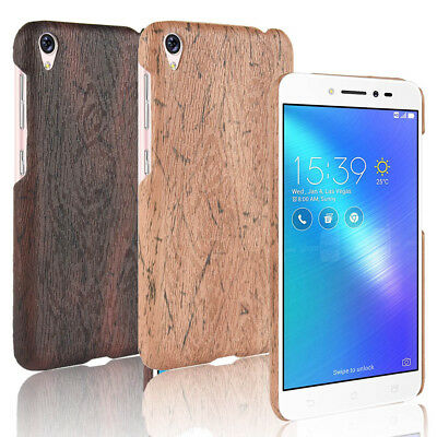 For ASUS Zenfone Live ZB501KL 3 Go Wood Texture PU Coated Design hard case cover