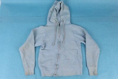 Vtg 60S Cotton Full Zip Hoodie Sweatshirt Usa Youth Kids Made In Usa