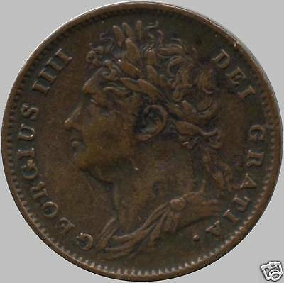 1826 Great Britain 1 Farthing Coin