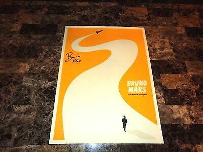 Bruno Mars Rare Authentic Hand Signed VIP Poster Lithograph Doo-Wops & Hooligans