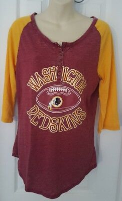 e477258e568 Washington Redskins T Shirt Tee Sheer Sparkle Logo Womens Teen 11 13 Large  New