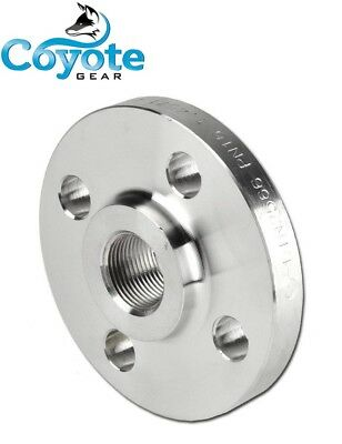 "1/2"" NPT Pipe Thread Raised Face Flange 304 Stainless Steel FNPT Coyote Gear 150"