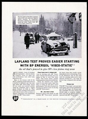 1959 Lapland Sweden winter photo BP Energol oil vintage print ad