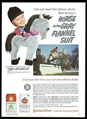 1969 Walt Disney Horse in the Gray Flannel Suit movie plush photo Carnation ad